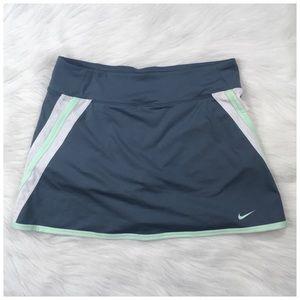 Nike Shorts - Nike Power Skirt BluishGray White Mint Trim XL NWT